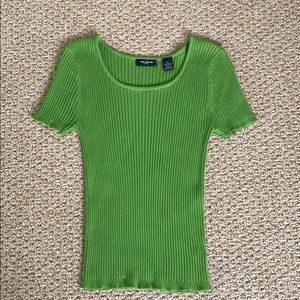 The Limited 100% Cotton Cable Knit Scoop Neck Top